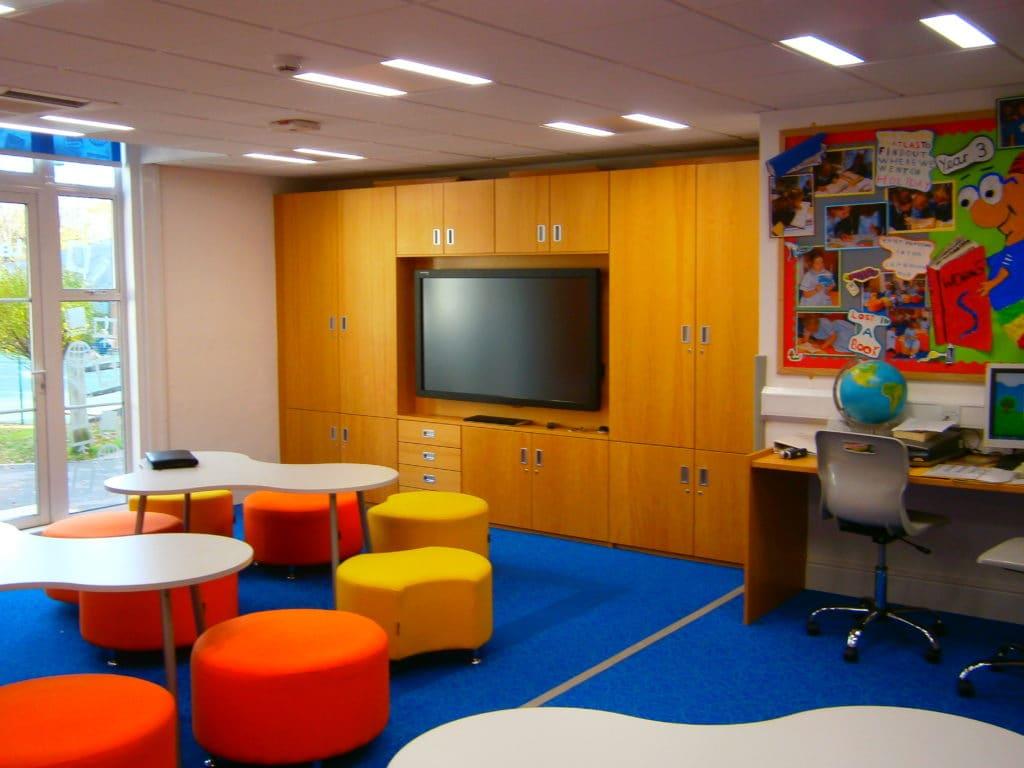Burgess Hill School for Girls teaching wall
