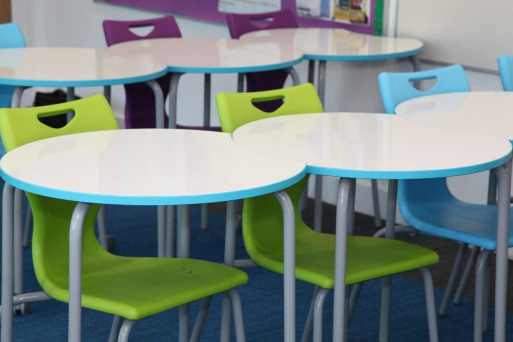Epsom College desks chairs classroom furniture