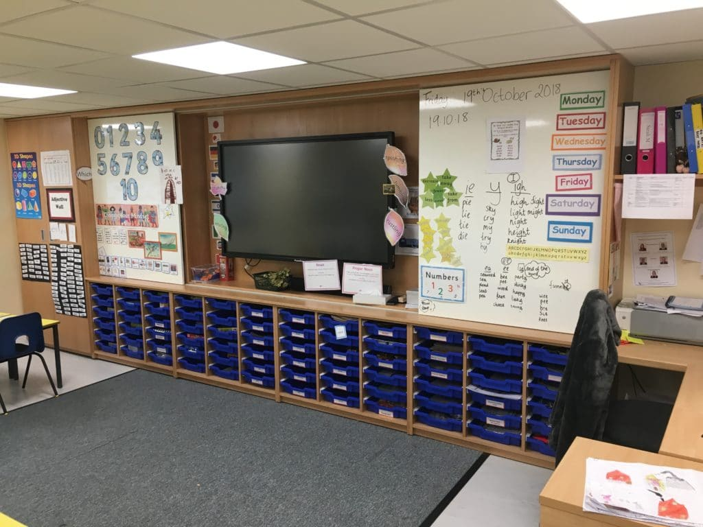 Hall School teaching wall