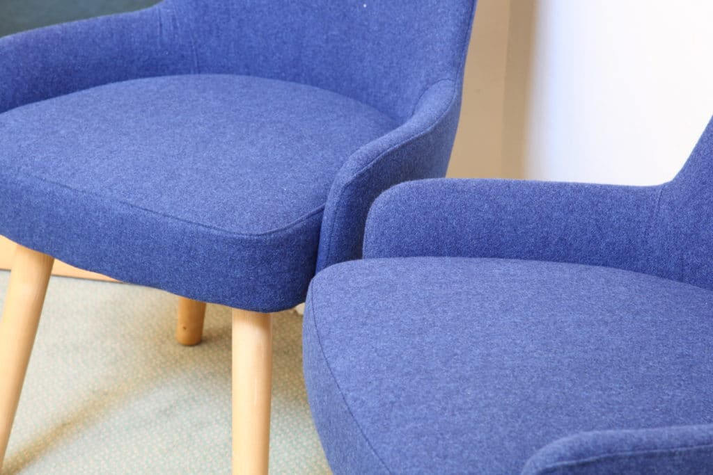 Epsom College Blue Chair Close Up