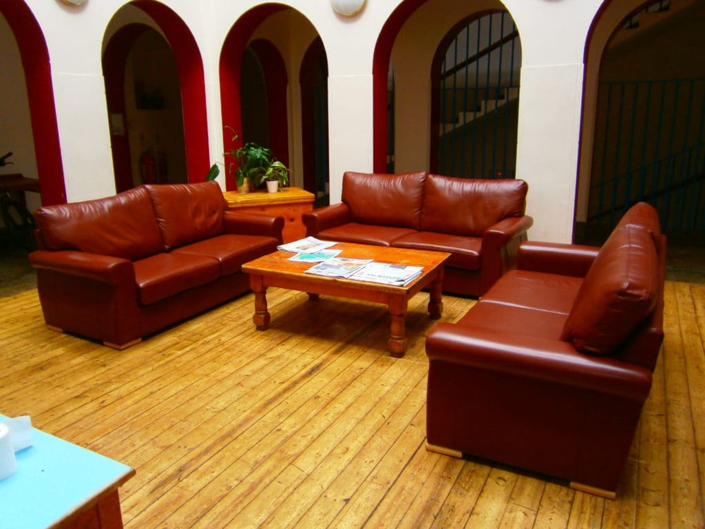 Marlborough College leather sofas
