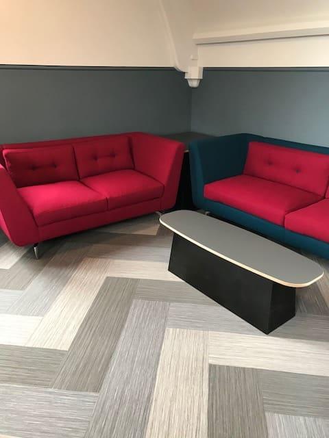 St. John's Leatherhead Red Sofas